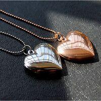 New Women Men's Heart Shaped Friend Photo Picture Frame Locket Pendant Necklace