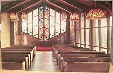 Montana Postcard St Timothy'S Chapel Interior Southern Cross Georgetown Lake