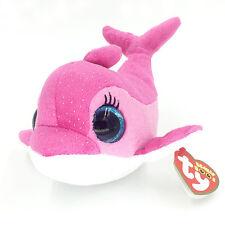 "6"" Ty Beanie Boos Sparkles Pink Dolphin Stuffed Animals Key Chian Toys Kids Gift"