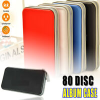 80 CD DVD Disc Storage Album Case Bag Holder Hard Box Portable Organizer Bag