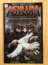 SIGNED x3 John Carpenter's Asylum Comic #7 New + Pic Olsen Sandy King RARE