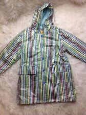 Pluie Pluie Boys Lime Green & Blue Fleece Lined Hooded Rain Jacket Coat Size 6 A