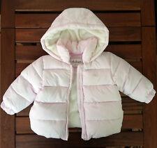 Parka abrigo/chaquetón bebé niña marca Dulces El Corte Inglés rosa 6-12 meses