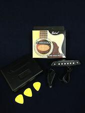 Belcat SH-85 Soundhole Acoustic Guitar Pickup w/Active Power Jack+3 Free Picks