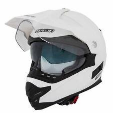 SPADA Intrepid Pearl White Full Face Motorcycle Adventure Helmet XS 0528505