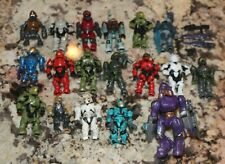 Nice 18 Halo Mega Bloks/Construx Hunter Master Chef Figure Lot with weapons