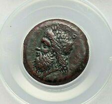 CA. 344-317 BC SICILY. SYRACUSE TIMOLEON & 3RD DEMOCRACY AE DRACHM OR DILITON