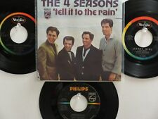 LOT OF 4 ' THE 4 SEASONS '  HIT45's+1PS  [THE JERSEY BOYS]    THE 60's!