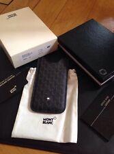 NEU MONTBLANC *MST* iPhone 5 5S SE  Leder Hülle Case SmartPhone Holder NP185€ 05