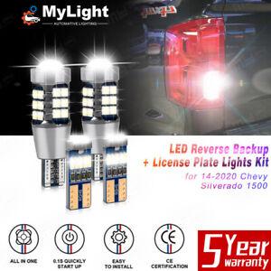 4Pcs LED Reverse Backup Light Bulb White for Chevrolet Silverado 1500 2014-2020