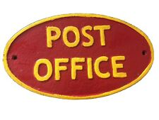 More details for post office - heavy cast iron sign - royal mail / mancave / postman pat