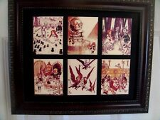 Wizard Of Oz - 6 small pictures, matted and framed