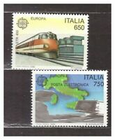 Italy MNH New 1988 Europa 2v s17902 Train Map