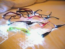 READING GLASSES W/ LED LIGHTS...AMAZING WHAT U CAN DO WITH THESE ~~~~CLOSEOUT