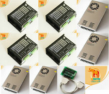 【Free】4PCS Stepper Motor Driver DQ860MA,7.8A,80V & 4Powers 3D CNC MIll,Cutter