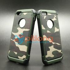 IPHONE 5 5S SE ARMY CAMO CAMOUFLAGE HYBRID ARMOR CASE