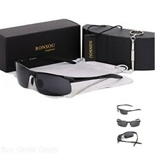 Ronsou Men Sport Al Mg Polarized Sunglasses Unbreakable For Driving Cycling Fish