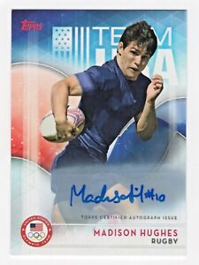 2016 Topps USA Olympic Team Authentic Autograph #18 Madison Hughes Rugby Captain