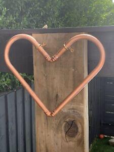 Copper Pipe Heart Ornament