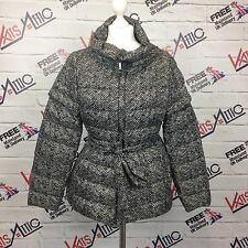 Ladies Max Mara Weekend Goose Down Black Cream Zig Zag Jacket/Gilet UK Size 12