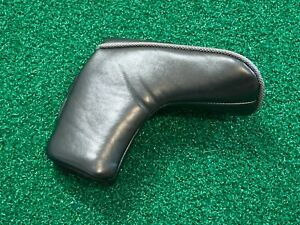 PLAIN BLACK GOLF BLADE PUTTER HEADCOVER - Magnetic Head Cover GREAT