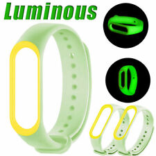 Luminous Silicone Soft Wristband Replacement Strap Belt for XIAOMI Mi Band 3 4 5