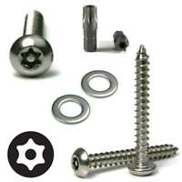 Anti Theft License Plate Screw Kit Stainless Steel Tamper Proof Torx Button Head
