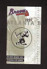 Atlanta Braves--1997 Pocket Schedule--with Spring Training