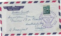 Suriname 1958 Airmail to Netherlands Crown Slogan Cancel Stamps Cover ref 22357