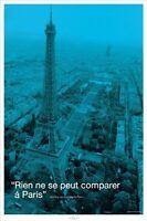 Eiffel Tower quote Rien ne se peut comparer a Paris 24x36 Poster Print 32185A