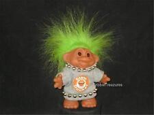 """5"""" 1986 Dam Slam Dunker Troll Girl Lime Hair Gray Shirt W/Ball Hoop & Trim V115"""