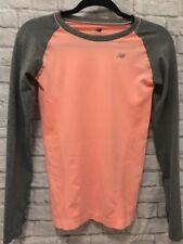 New Balance Clothing Women's Peach w/Gray Long Sleeves w/Thumb Holes Shirt/Top S