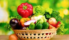 Fruits Légumes Cuisine effet 3d Fenêtre Mur Vue Autocollant Poster Vinyle 350
