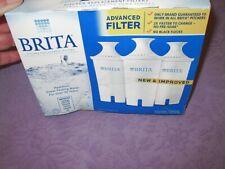 NEW 3 Pack BRITA  ADVANCED No Flecks NEW & IMPROVED Pitcher WATER FILTERS Boxed
