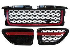Range Rover Sport Calandre + Side Vent Autobiography Style Upgrade Kit Noir & Rouge