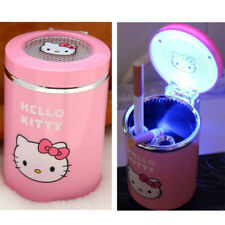 Cute Pink Hello kitty Portable Car Auto Led Light Cigarette Ashtray Night Light