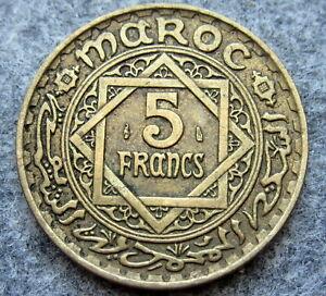 MOROCCO MOHAMMED V 1946 - AH 1365 5 FRANCS