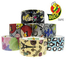 6 Duck Brand Designer Printed Pattern Duct Tape Rolls Art Crafts DIY Bulk Lot