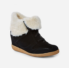 Justice Girl's Size 2 Faux Fur Wedge Sneakers New with Tags