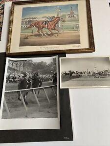 SECRATRARIAT 1973 BELMONT STAKES original FINISH LINE photos