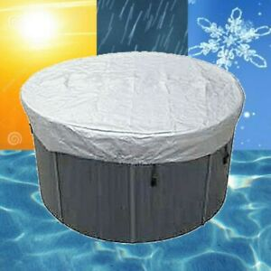 Round Waterproof Dustproof Cover For Spa Bathtub Oxford Cloth Anti-UV Material