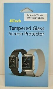 JETech Tempered Glass Screen Protector for Apple Watch Series 3/2/1 38mm 2 Pack