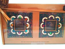NWT,The Bombay Company,Set of 2 MULTI COLOR Harlequin Beaded Picture Frames,4x4""