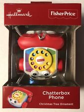 Hallmark Ornament-2018-CHATTERBOX PHONE-FISHER PRICE-Red Box Ornament.