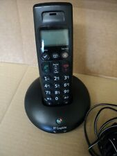 BT BLACK GRAPHITE CORDLESS HAND HELD PHONE USED