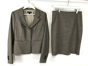 Ann Taylor 2 PC Skirt Suit NEW Wool Blend Stretch NWT Jacket SZ6 Skirt SZ8