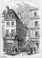 "Grub Street London, Robert Chambers Book of Days,1864, Repro Print 5.5x4"""