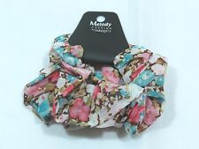 Chiffon Scrunchie 2pc set wildflower spring floral soft ouchless colorful C