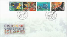 Christmas Island Australia 2013 FDC Fishes 4v Set Cover Cocos Angelfish Wrasse