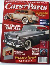 CARS & PARTS MAGAZINE NOVEMBER 1996,'32 STUDEBAKER,'56 CHEVY BEL AIR